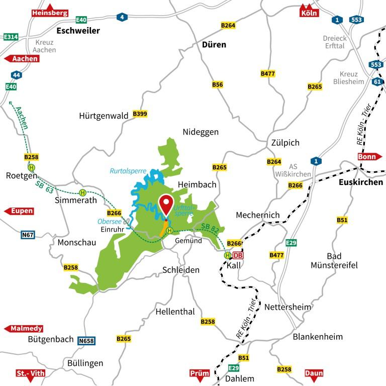 Nationalpark Eifel Karte.Anreise Vogelsang Ip Internationaler Platz